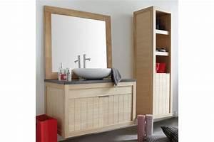 Meuble Deux Portes : meuble vasque en ch ne massif 101 cm avec deux portes la galerie du teck ~ Teatrodelosmanantiales.com Idées de Décoration