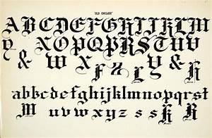 1937 Print Old English Typeface Alphabet Letter Art Fancy ...