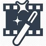 Film Icon Montage Edit Magic Modify Strip