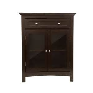 glitzhome wooden free standing storage cabinet with double
