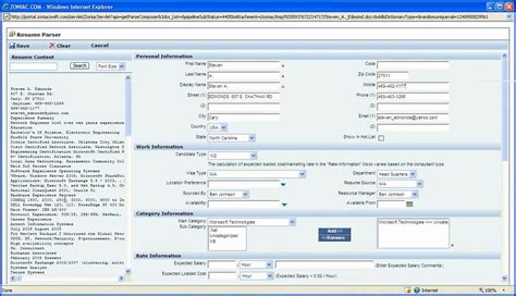 Candidate Resume Database by Zoniac Resume Parser Create Candidate Database Quickly