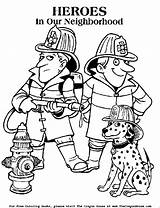 Firefighter Printable Coloring Pages Fire Easy Getdrawings sketch template