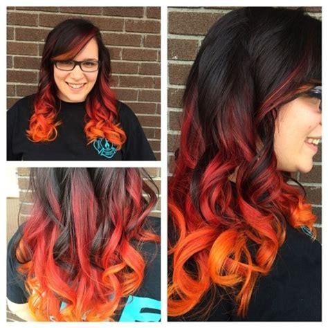 Dark Hair With Teal Dip Dye Hair Colors Ideas
