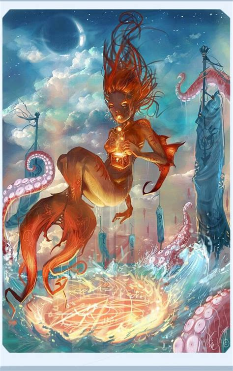 wonderful mermaid illustrations web graphic design
