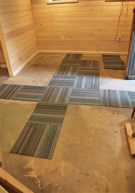 Our Basement Part 40: Installing Carpet Tile   Stately Kitsch