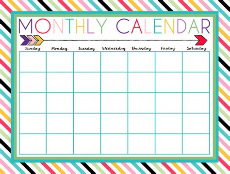 printable daily weekly  monthly calendars