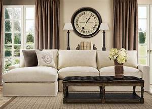 Casual linen upholstered sectional sofa deep comfortable for Deep sectional sofas living room furniture