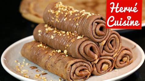 chocolat à cuisiner crêpes la recette facile au chocolat version roulée la