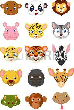 de dibujos animados cabeza de animal salvaje caritas animales animales manualidades