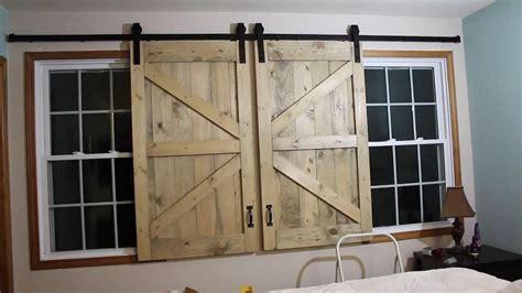 Barn Door Window by Barn Door Headboard Window Covers