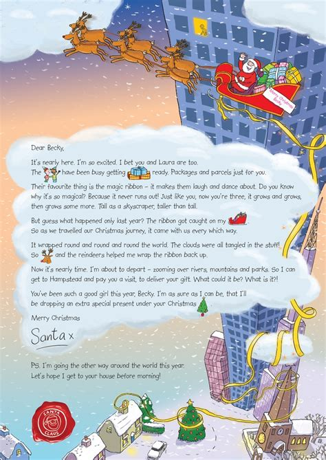 letter to child about santa the 33 best images about nspcc letter from santa on 28277