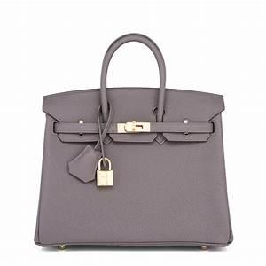 Hermes Birkin Bag 25cm Etain Togo Gold Hardware | World's Best  Hermes