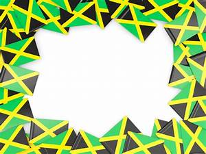Flag frame. Illustration of flag of Jamaica