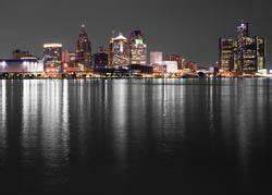 Ikea wall art the detroit skyline for the home for Kitchen cabinets lowes with detroit skyline wall art
