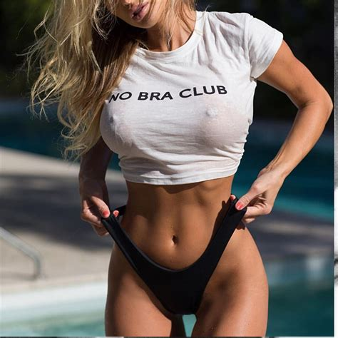 no shirt no blouse summer white t shirt no bra letter vogue cotton