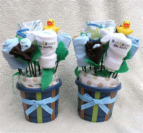 baby bouquets  twin boys unique gift baby