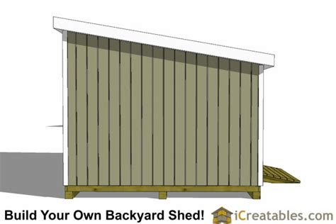 lean  shed plans build  large lean  shed