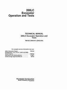 200lc Technical Manual Operation And Tests Tm1663 Pdf