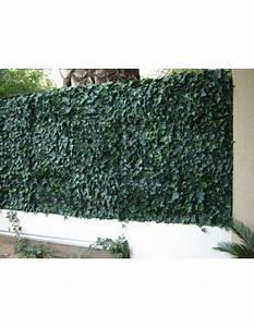 Brise Vue 400g M2 : haie artificielle 3 m2 feuillage lierre rouge plaque clipsable ~ Melissatoandfro.com Idées de Décoration