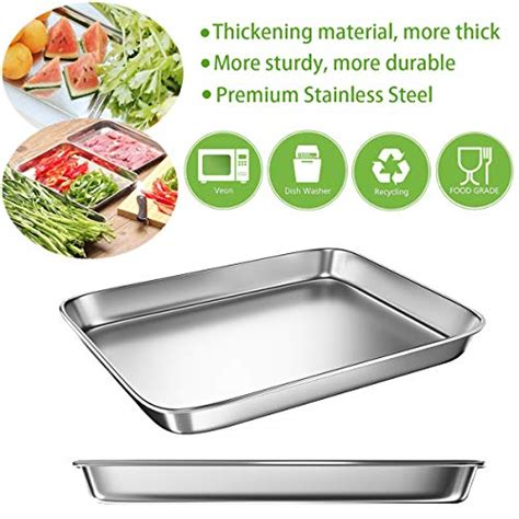 baking oven toaster sheet pans sheets dishes stainles rated cookie stainless steel metal