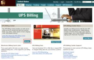 ups billing center      improve