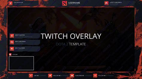 Twitch Alert Images Template by 187 Twitch Overlay Template 007 Twitch Overlay Maker
