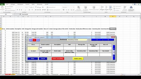 create databases  excel   flexible input mask