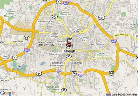 map  days inn raleigh downtown raleigh