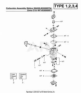 Poulan Xt400 Gas Trimmer Type 4 Parts Diagram For