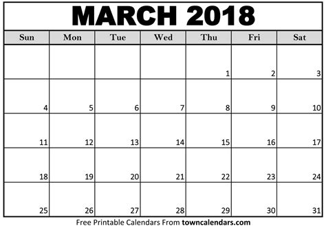 calendar template march 2018 march 2018 calendar with holidays free