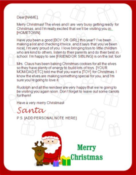 printable santa letter downloads christmas letter