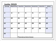 Calendário junho de 2019 57DS Michel Zbinden