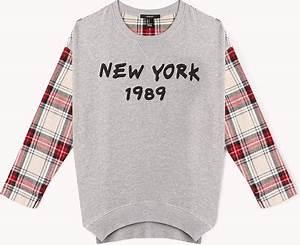 Plaid New York : forever 21 plaid new york sweatshirt in gray heather grey ~ Teatrodelosmanantiales.com Idées de Décoration