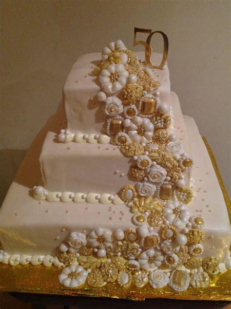 gateau anniversaire 50 ans g 226 teau de 50e anniversaire de mariage bijoux faits
