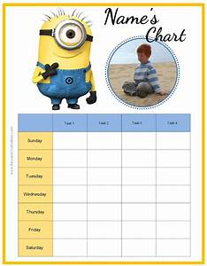 free printable potty chart behavior charts with the minions