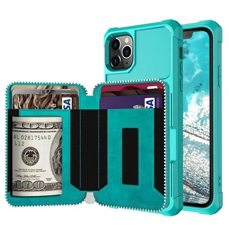 Please check your phone model. Dteck Wallet Case For iPhone 11 Pro Max, Zipper Wallet Case with Credit Card Holder Slot Purse ...