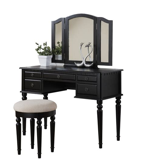vanity table and stool amazon com bobkona st croix collection vanity set with