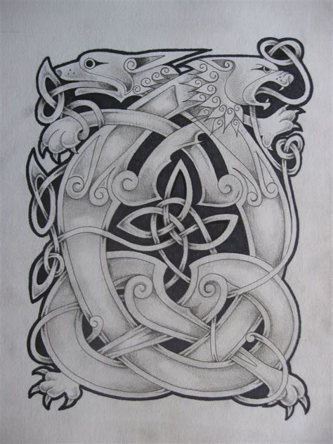 celtic lion  dragon  knotty inks  deviantart