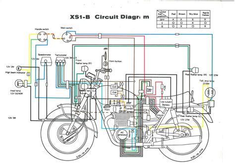 1982 yamaha xj650 wiring diagram yamaha dt400 wiring