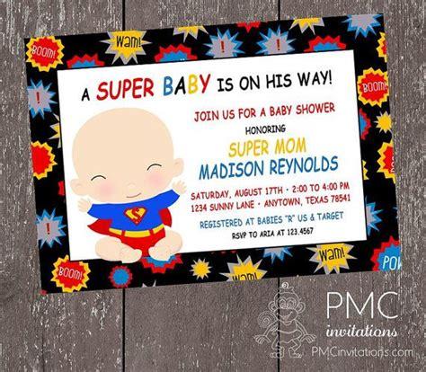 superhero baby shower invitation templates