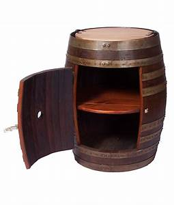 Recycled wine barrel side cabinet recycled wine barrel for Wine barrell furniture