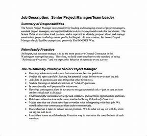 9  Project Manager Job Description Templates