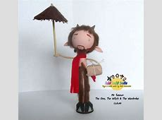 Mr tumnus peg doll the lion the witch and the wardrobe