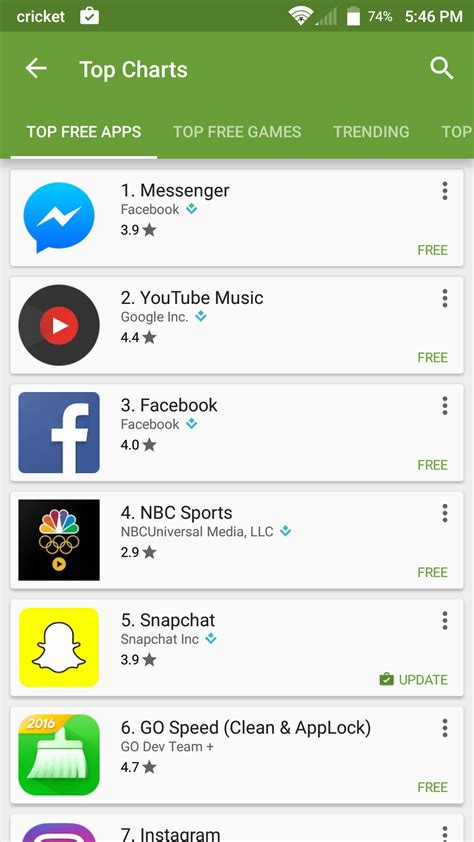 play apps play store finally has separate charts for apps and