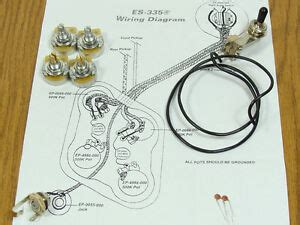 es 335 wiring guitar parts ebay