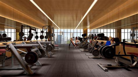 Gym Interior : Eau Du Soleil Gym Interior Rendering True Condos