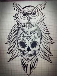 #Owl sketch #Sugar skull #Tattoo | Tattoo Ideas ...