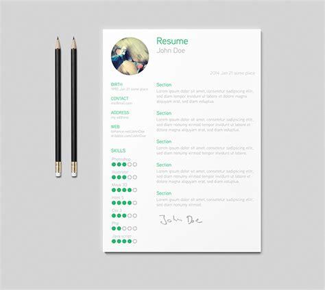 beautiful resume templates   hongkiat