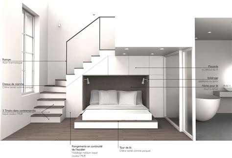 place du lit dans une chambre lit pour studio gain de place maison design bahbe com