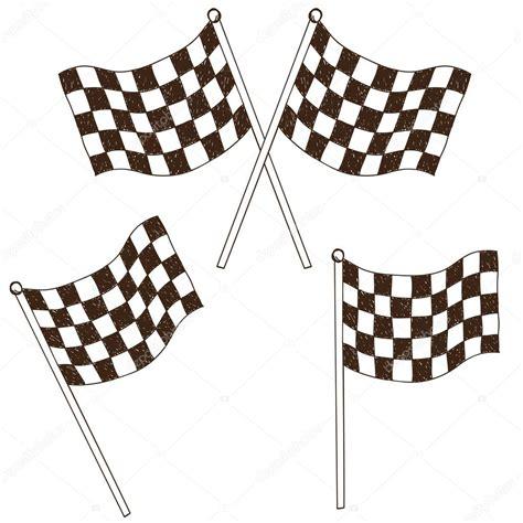 Dessin drapeau à carreaux — Image vectorielle kytalpa ...